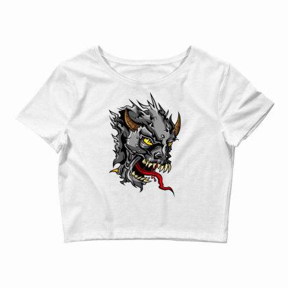Devil Head Crop Top Designed By Chiks