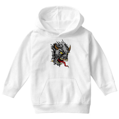 Devil Head Youth Hoodie Designed By Chiks