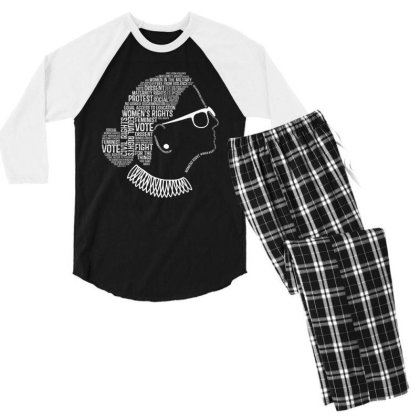 Feminism Quotes Feminist Gifts Womens Rights Men's 3/4 Sleeve Pajama Set Designed By Conco335@gmail.com