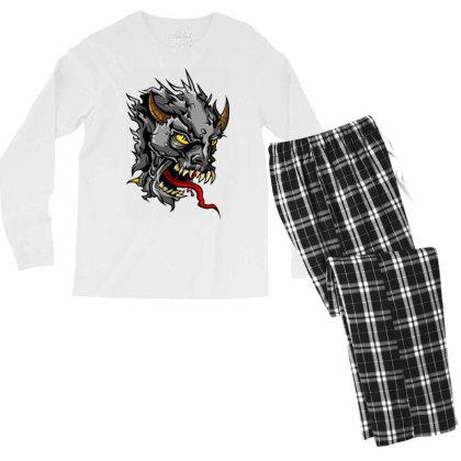 Devil Head Men's Long Sleeve Pajama Set Designed By Chiks