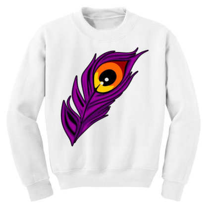 Peacock Youth Sweatshirt Designed By Chiks