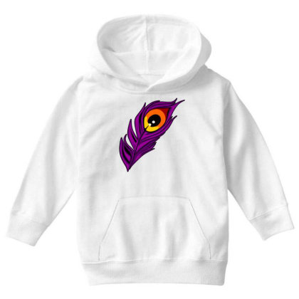 Peacock Youth Hoodie Designed By Chiks