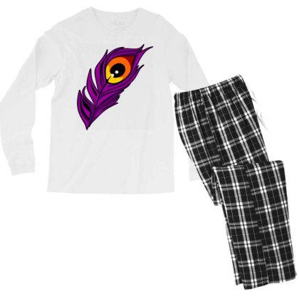 Peacock Men's Long Sleeve Pajama Set Designed By Chiks