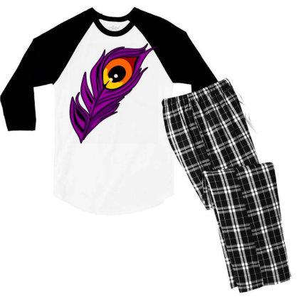 Peacock Men's 3/4 Sleeve Pajama Set Designed By Chiks