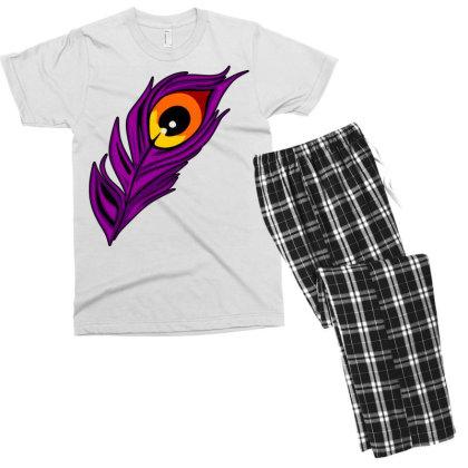 Peacock Men's T-shirt Pajama Set Designed By Chiks