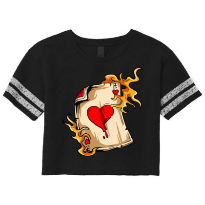 Flame On Cards Scorecard Crop Tee Designed By Chiks