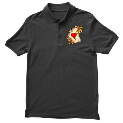 Flame On Cards Men's Polo Shirt Designed By Chiks