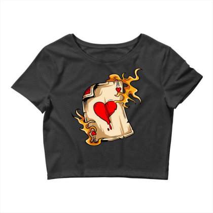 Flame On Cards Crop Top Designed By Chiks