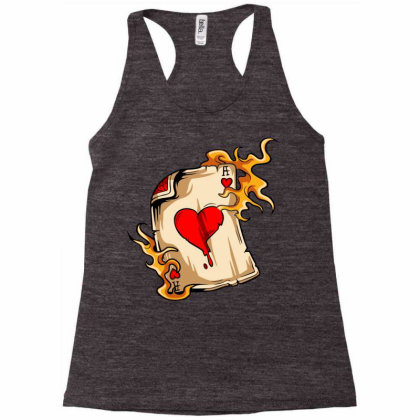 Flame On Cards Racerback Tank Designed By Chiks