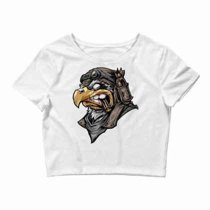 Eagle Head Crop Top Designed By Chiks