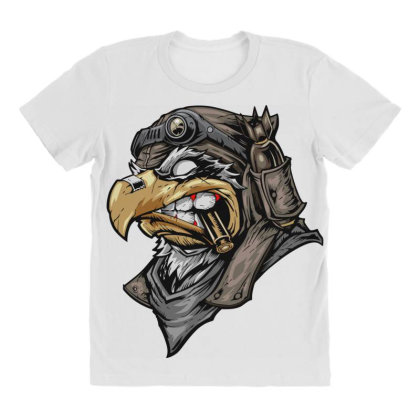 Eagle Head All Over Women's T-shirt Designed By Chiks