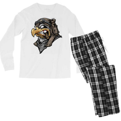Eagle Head Men's Long Sleeve Pajama Set Designed By Chiks