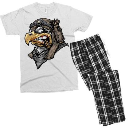 Eagle Head Men's T-shirt Pajama Set Designed By Chiks