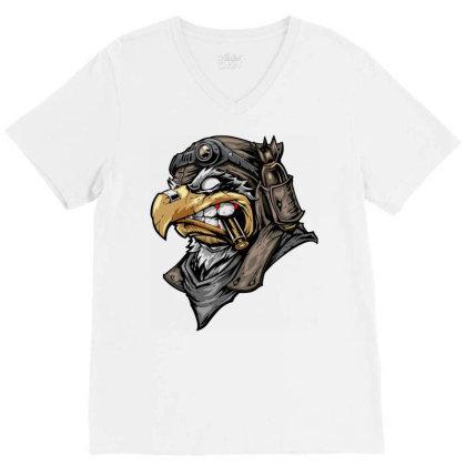 Eagle Head V-neck Tee Designed By Chiks