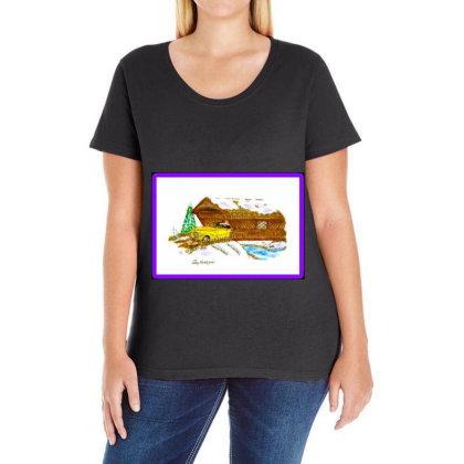 1940 Desoto Ladies Curvy T-shirt Designed By Old Mill Studio