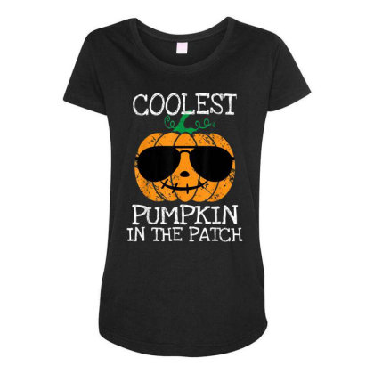 Kids Coolest Pumpkin In The Patch Halloween Maternity Scoop Neck T-shirt Designed By Conco335@gmail.com