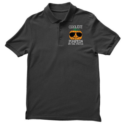 Kids Coolest Pumpkin In The Patch Halloween Men's Polo Shirt Designed By Conco335@gmail.com