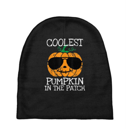 Kids Coolest Pumpkin In The Patch Halloween Baby Beanies Designed By Conco335@gmail.com