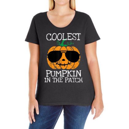 Kids Coolest Pumpkin In The Patch Halloween Ladies Curvy T-shirt Designed By Conco335@gmail.com