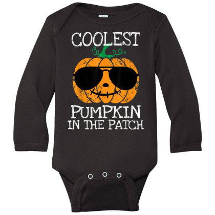 Kids Coolest Pumpkin In The Patch Halloween Long Sleeve Baby Bodysuit Designed By Conco335@gmail.com