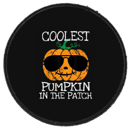 Kids Coolest Pumpkin In The Patch Halloween Round Patch Designed By Conco335@gmail.com