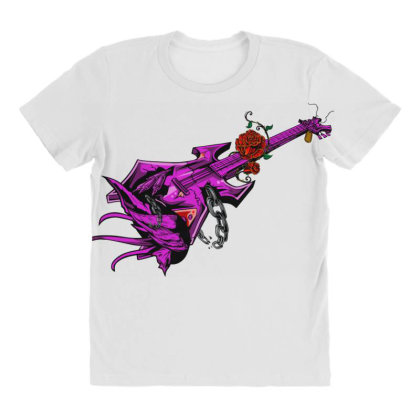 Guitar Graphic Art All Over Women's T-shirt Designed By Chiks