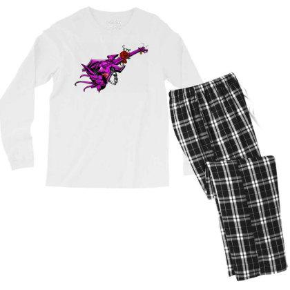 Guitar Graphic Art Men's Long Sleeve Pajama Set Designed By Chiks