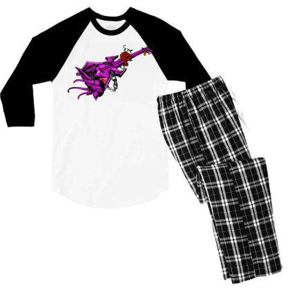 Guitar Graphic Art Men's 3/4 Sleeve Pajama Set Designed By Chiks