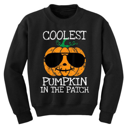 Kids Coolest Pumpkin In The Patch Halloween Youth Sweatshirt Designed By Conco335@gmail.com