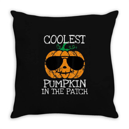 Kids Coolest Pumpkin In The Patch Halloween Throw Pillow Designed By Conco335@gmail.com