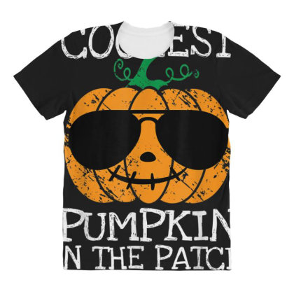 Kids Coolest Pumpkin In The Patch Halloween All Over Women's T-shirt Designed By Conco335@gmail.com