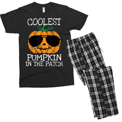 Kids Coolest Pumpkin In The Patch Halloween Men's T-shirt Pajama Set Designed By Conco335@gmail.com