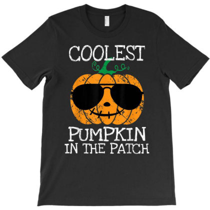 Kids Coolest Pumpkin In The Patch Halloween T-shirt Designed By Conco335@gmail.com