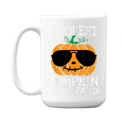 Kids Coolest Pumpkin In The Patch Halloween 15 Oz Coffe Mug Designed By Conco335@gmail.com