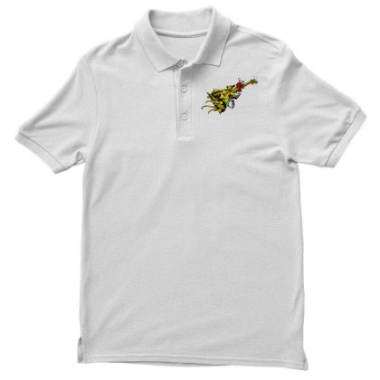Guitar Graphic Art Men's Polo Shirt Designed By Chiks