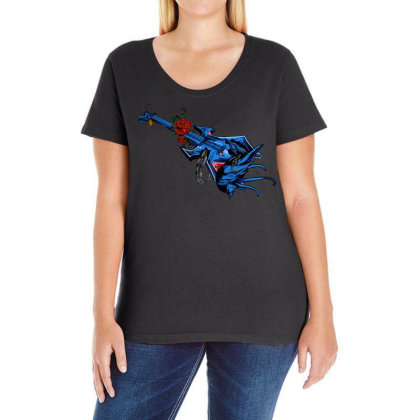 Electric Guitar Ladies Curvy T-shirt Designed By Chiks
