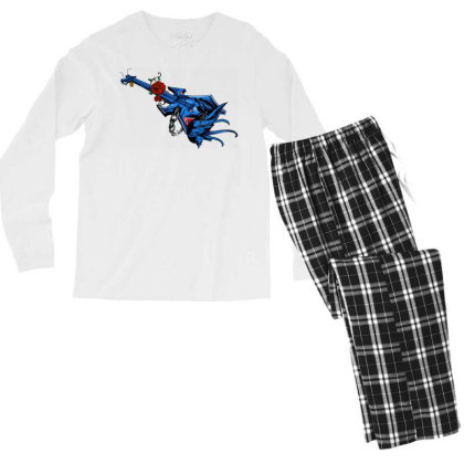Electric Guitar Men's Long Sleeve Pajama Set Designed By Chiks