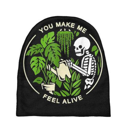 You Make Me Feel Alive - Halloween Skull Baby Beanies Designed By Mrt90