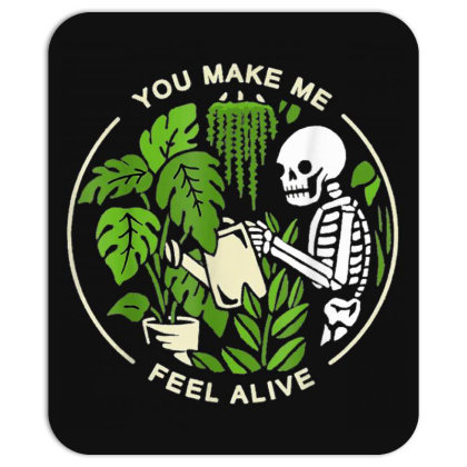 You Make Me Feel Alive - Halloween Skull Mousepad Designed By Mrt90