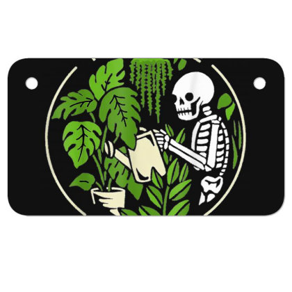 You Make Me Feel Alive - Halloween Skull Motorcycle License Plate Designed By Mrt90