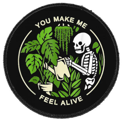 You Make Me Feel Alive - Halloween Skull Round Patch Designed By Mrt90