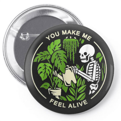 You Make Me Feel Alive - Halloween Skull Pin-back Button Designed By Mrt90