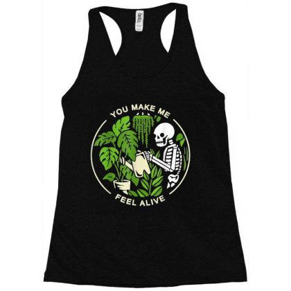 You Make Me Feel Alive - Halloween Skull Racerback Tank Designed By Mrt90