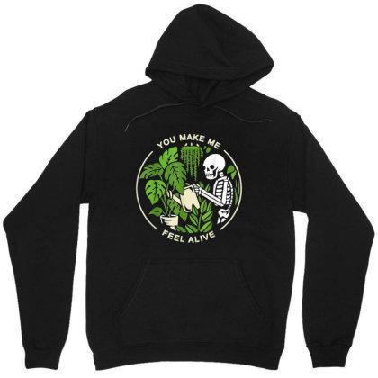 You Make Me Feel Alive - Halloween Skull Unisex Hoodie Designed By Mrt90
