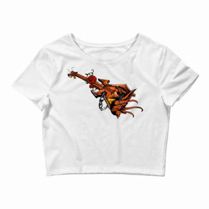 Electric Guitar Crop Top Designed By Chiks
