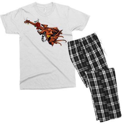 Electric Guitar Men's T-shirt Pajama Set Designed By Chiks