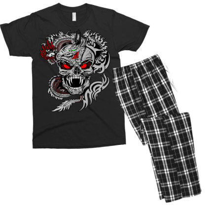 Devil Head Men's T-shirt Pajama Set Designed By Chiks