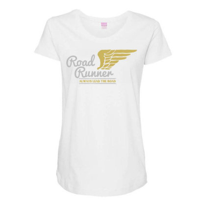 Road Runner Maternity Scoop Neck T-shirt Designed By Chiks