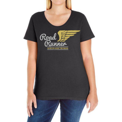 Road Runner Ladies Curvy T-shirt Designed By Chiks
