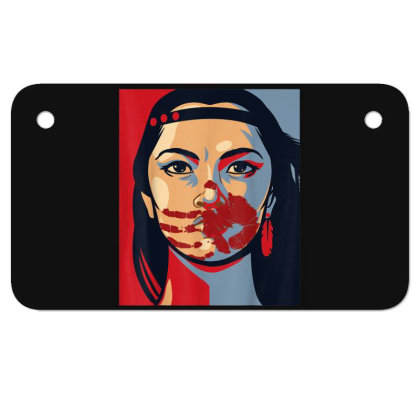 Awareness Indigenous Woman Art Stolen Sisters Motorcycle License Plate Designed By Mrt90
